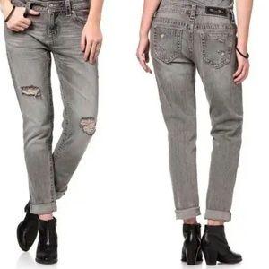 Miss Me Boyfriend Ankle Distressed Crop Jeans 29